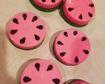Watermelon Chocolate covered oreos (order of 13)