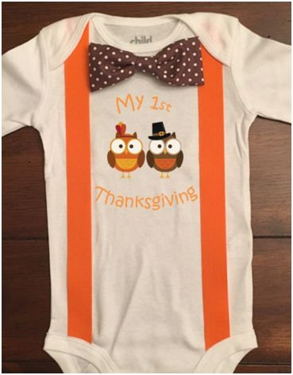 006d5481f CUSTOMIZABLE Baby Boy First Thanksgiving Outfit Thanksgiving | Etsy