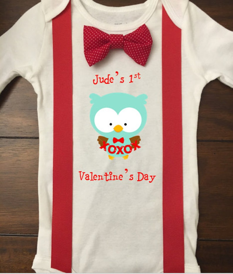 131d3cfb8 1st Valentines Day Outfit Boy 1st Valentines Day Owl Hearts | Etsy
