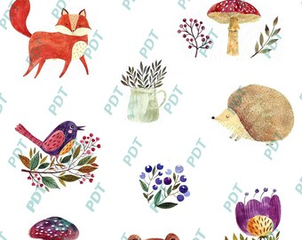 Stickers animaux forêt