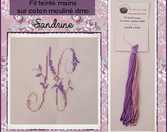 Fil teinté mains : Sandrine