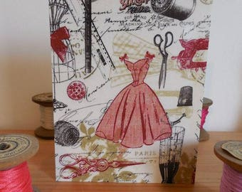 Carte postale couture