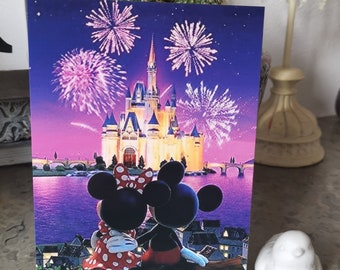 Carte postale Mickey et Minnie