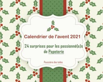 Calendrier de l'avent Noël 2021 Papeterie
