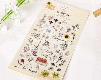 Secret garden stickers