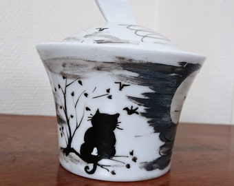 "Sugar Bowl ""Cat on the tree"""