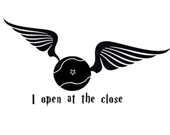 Snitch I Open At The Close Wall Decal