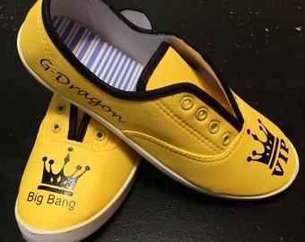 Big Bang kpop *hand painted* *custom design* Shoes