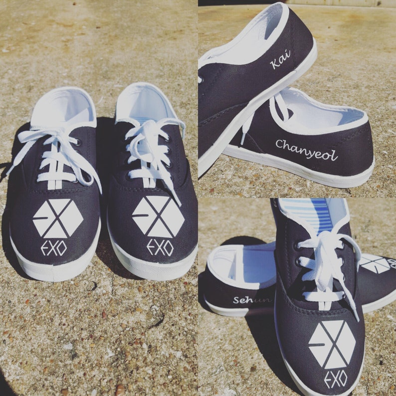 EXO kpop *hand painted* shoes