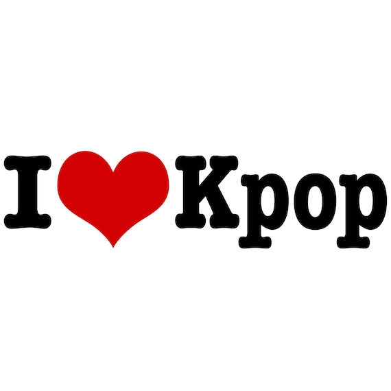 I Love Kpop Decal Sticker Etsy