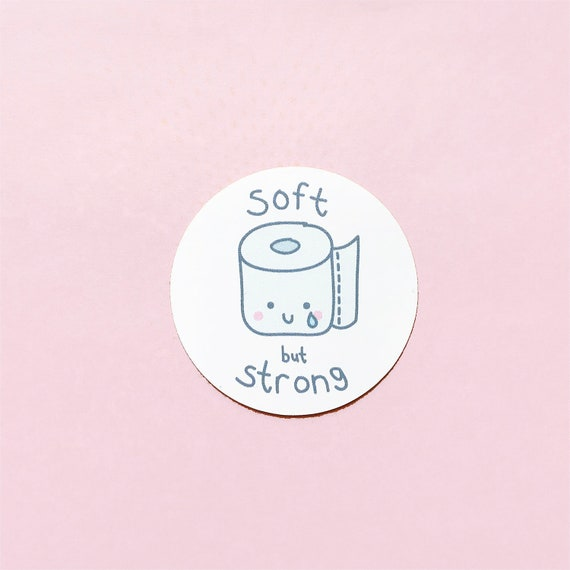 "2"" Soft But Strong Toilet Paper Vinyl Sticker"