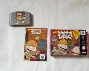 Vintage Nintendo 64 / n64 rug rats treasure hunt box \u0026 instructions & Nintendo rug | Etsy