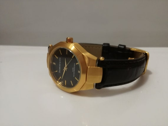 vintage ladies watch /  gold  quartz watch / Diamo