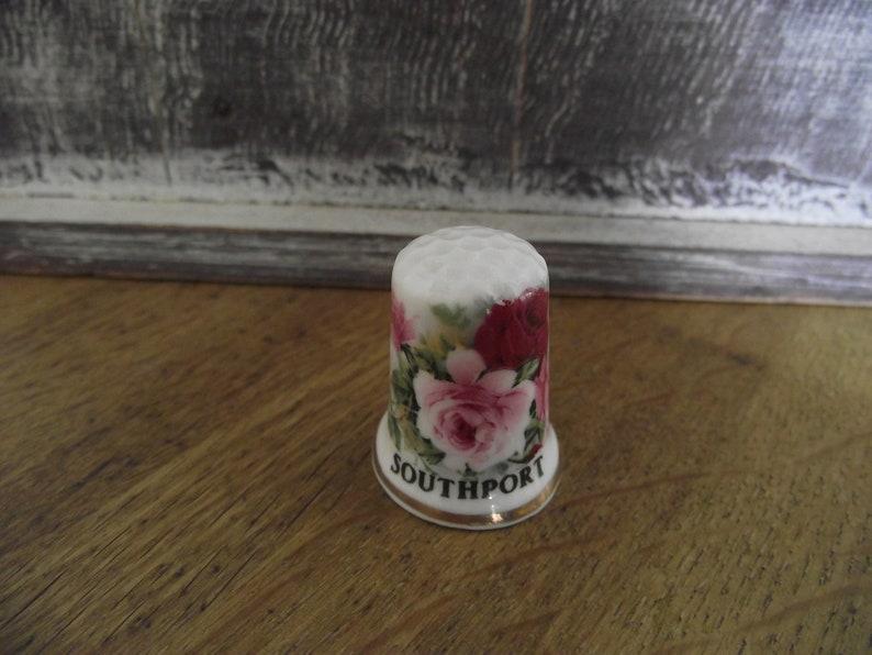 Vintage thimbles  Southport  flowers  beautiful Fine Bone China  bone china England made  BRB3