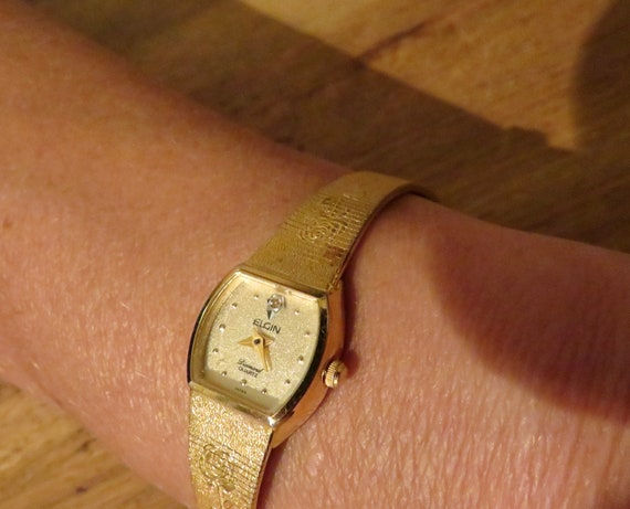 vintage watch / Diamond classic ladies Watch / Elg