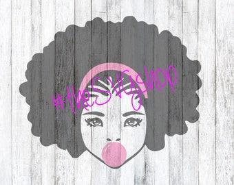 Bubble Gum Girl SVG