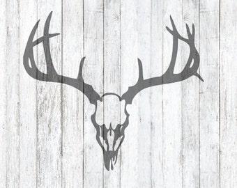 SVG Deer Skull and Antler File
