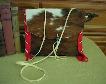 Native American style Cow Hide Possible Bag Envelope Bag
