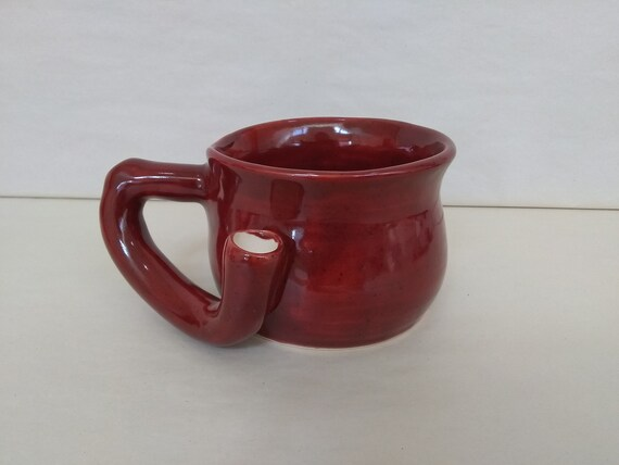 WAKE and BAKE Pipe MUG - Deep Firebrick - Handmade Ceramic #966