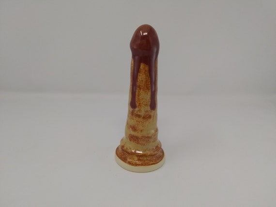 ADULT SEX TOY - Dripping Albany Firebrick - Handmade Ceramic #342