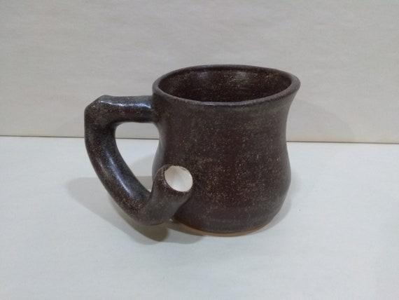 WAKE and BAKE Pipe MUG - Temmoku - Handmade Ceramic #958