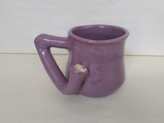 WAKE and BAKE Pipe MUG - Purple - Handmade Ceramic #962