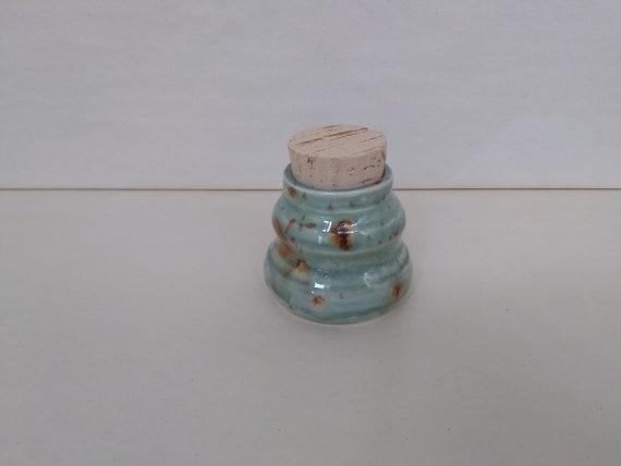STASH JAR - Lotus Blossom Mid - Handmade Ceramic #360