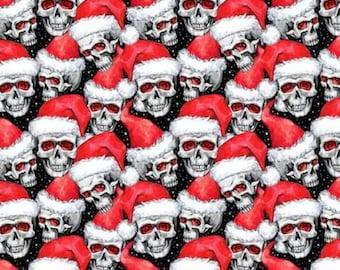 Santa Skulls 100% Cotton