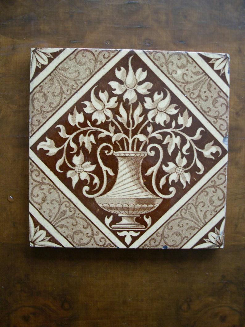 Antiques Vintage Decorative Minton Tile Without Return