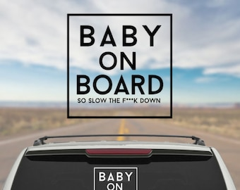 Baby On Board Decal, Baby On Board Car Decal, Baby On Board Sticker, First Time Parents Gifts, Baby Decals, Funny Car Decals, Car Stickers