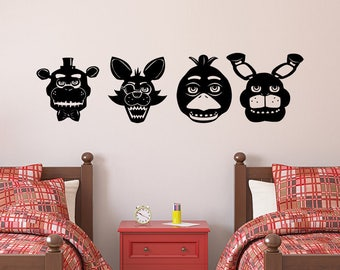 Five Nights At Freddy's Decal, FREE SHIPPING! Freddy Decal, Chica Decal, Foxy Decal, Bonnie Decal,Fnaf Stickers, Fnaf Decal, Fnaf Decor
