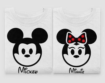 Mickey And Minnie Couple Shirt, Mickey And Minnie Family Disney Shirt, Disneyland Vacation Shirts, Disneyworld Family Shirts, Mickie T-Shirt