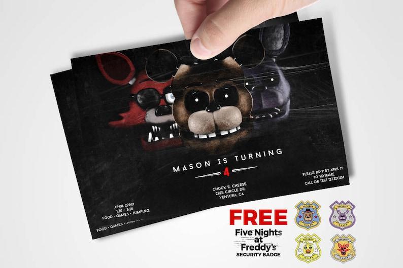 Five Nights At Freddys Invitations