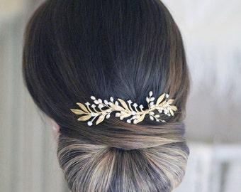 Gold hair vine/bridal hair vine/bridal hair vine/grecian hair vine/bridal accessories/bridal hair piece/bridal hair piece