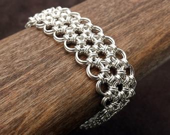 Japanese Chainmail Hana Gusari Bracelet