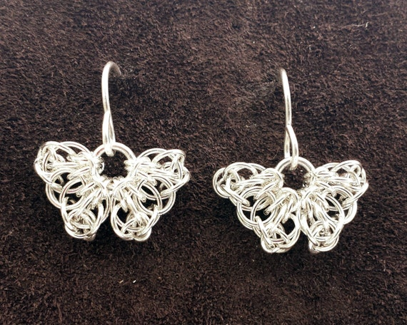 Sterling Silver Celtic Butterfly Earrings