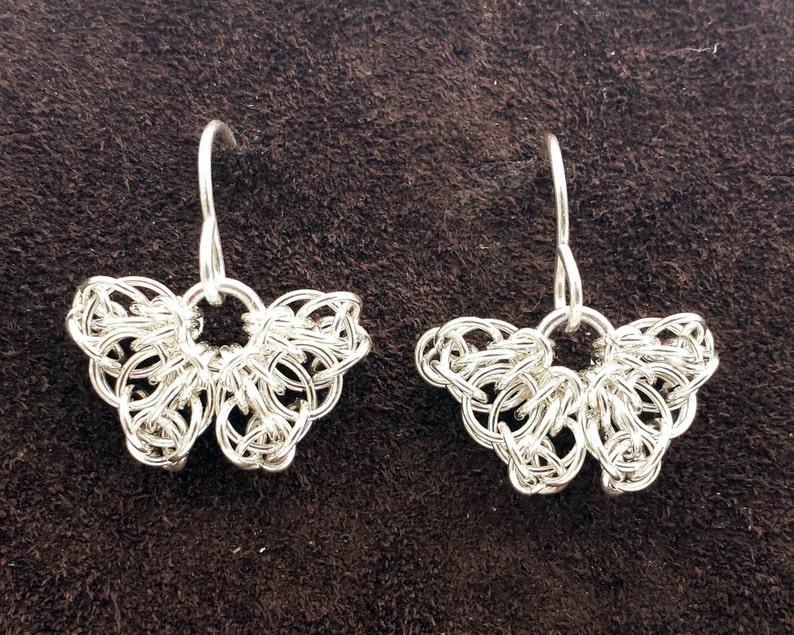 Sterling Silver Celtic Butterfly Earrings image 1