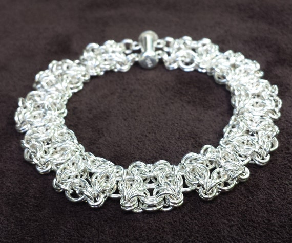 Celtic Labyrinth Chainmail Bracelet