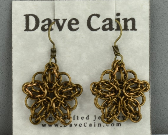 CLOSEOUT Celtic Star Earrings - Antique Bronze