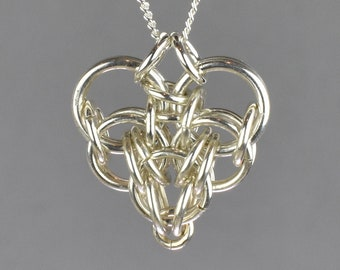 Persian Heart Chainmail Pendant