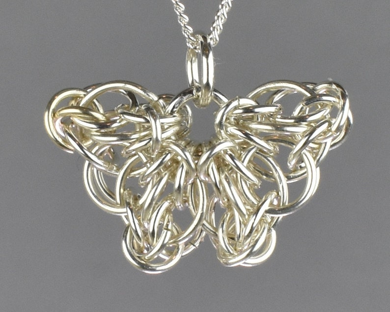 Celtic Butterfly Chainmail Pendant  Small image 1