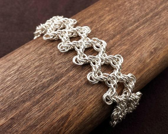 Byzantine Web Chainmail Bracelet