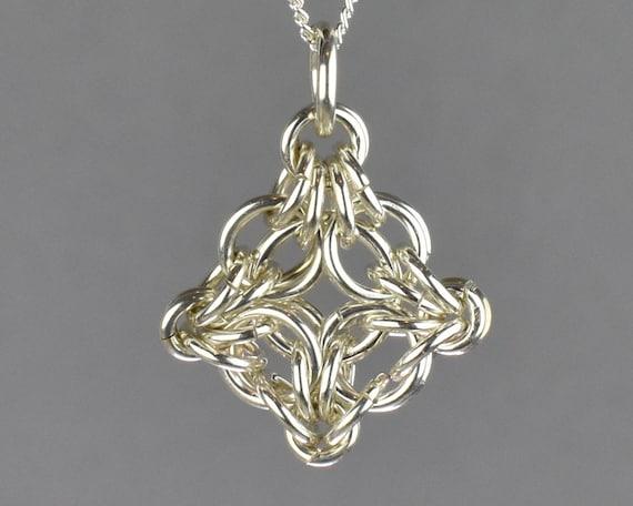 Byzantine Labyrinth Chainmail Pendant