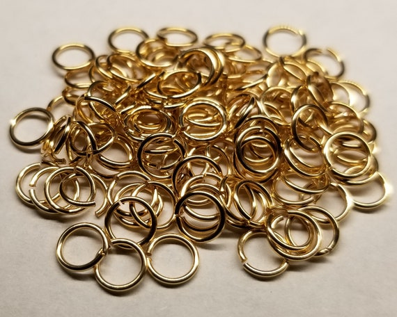 Fifty 22ga 14kt Gold Filled Jump Rings - Choose Size