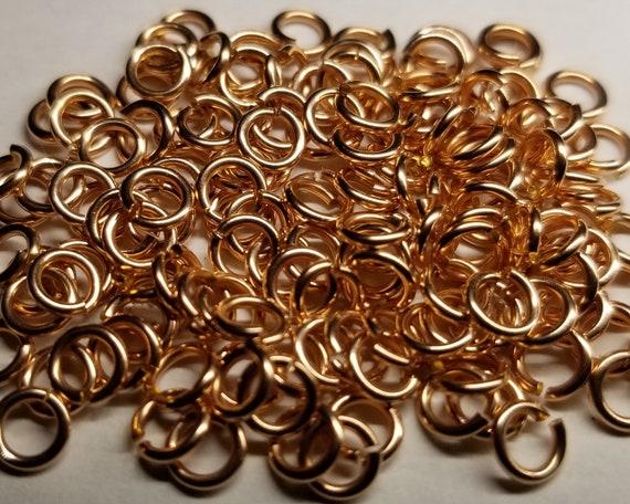 One Hundred 16ga 14kt Rose Gold Filled Jump Rings - Choose Size