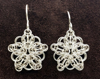 Celtic Star Chainmail Earrings