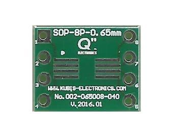 """3 Stück DE Adapterplatine für DFN8-3x3 0.65mm auf DIP8 0.3/"""" Sockel."""
