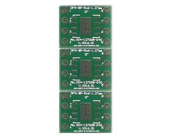 "3 PCS. - DFN8-5x6 1.27mm(0.05"") to DIP8 0.4"" socket."