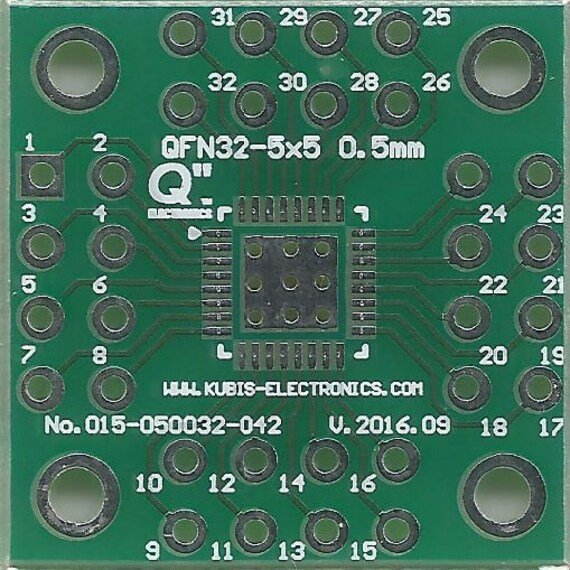 "0.02/"" to 4 x IDC2x4 connector. QFN32-5x5 0.50mm US"