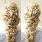 Pearl bridal hair vine Bridal hair accessories Bridal hair piece Rose gold bridal headpiece Gold wedding hair pieces Gold Wedding hair vine